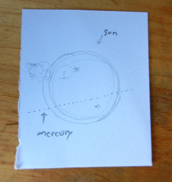 mercury transits sun